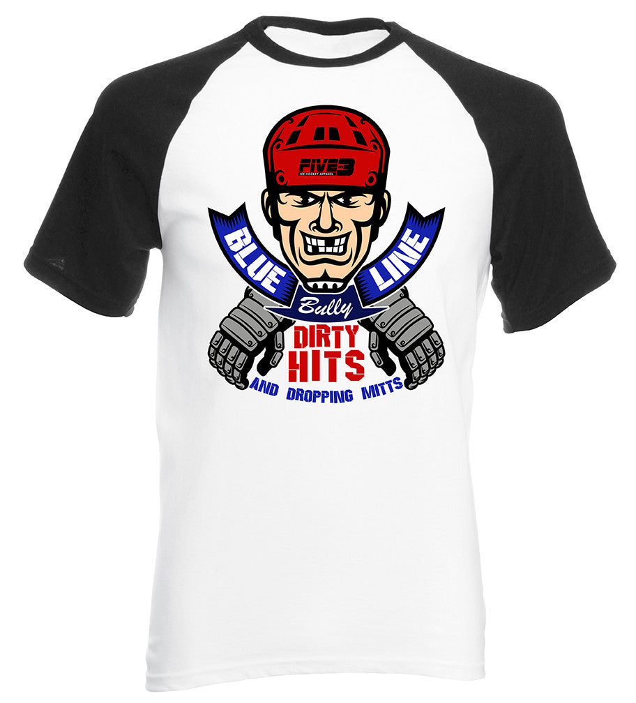 Blue Line Bully Base Ball Style Short Sleeve Tee