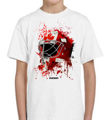 Canada Splat Attack Goalie Mask Kids Tee