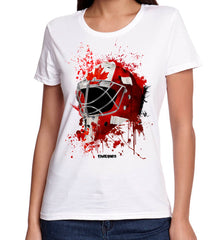 Canada Splat Attack Lady Fit Goalie Mask Tee