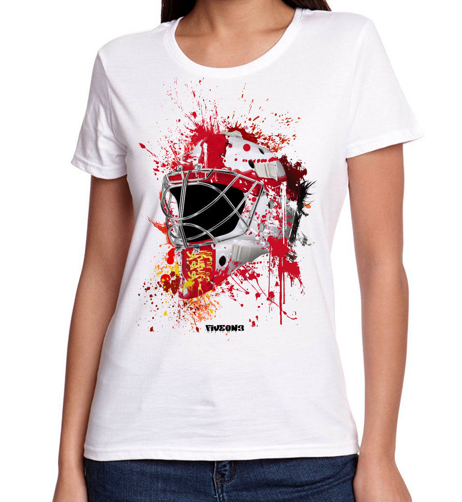 England Splat Attack Lady Fit Goalie Mask Tee