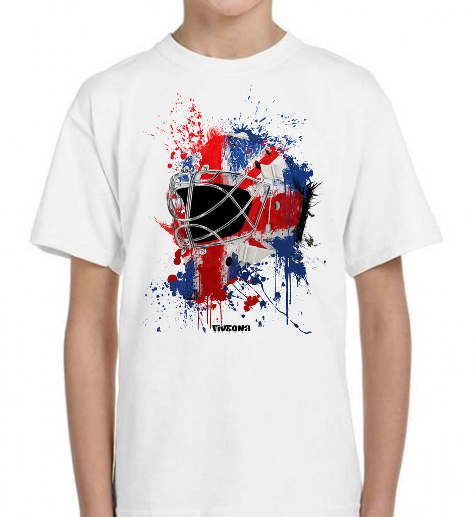 Great Britain Splat Attack Goalie Mask Kids Tee