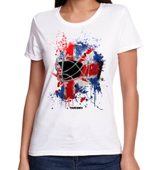 Great Britain Splat Attack Lady Fit Goalie Mask Tee