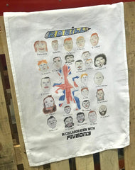Badly Drawn GB Tea Towel