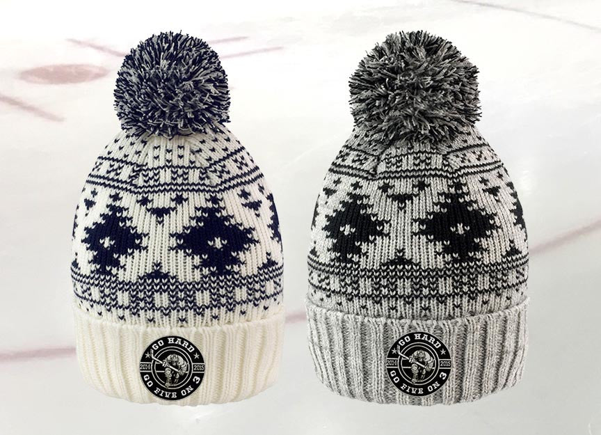 Go Hard bobble Hats
