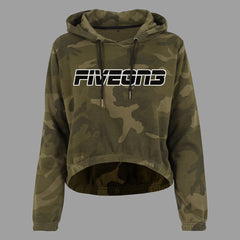 Women's cammo cropped hoodie