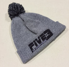 Grey and Black Bobble Hat