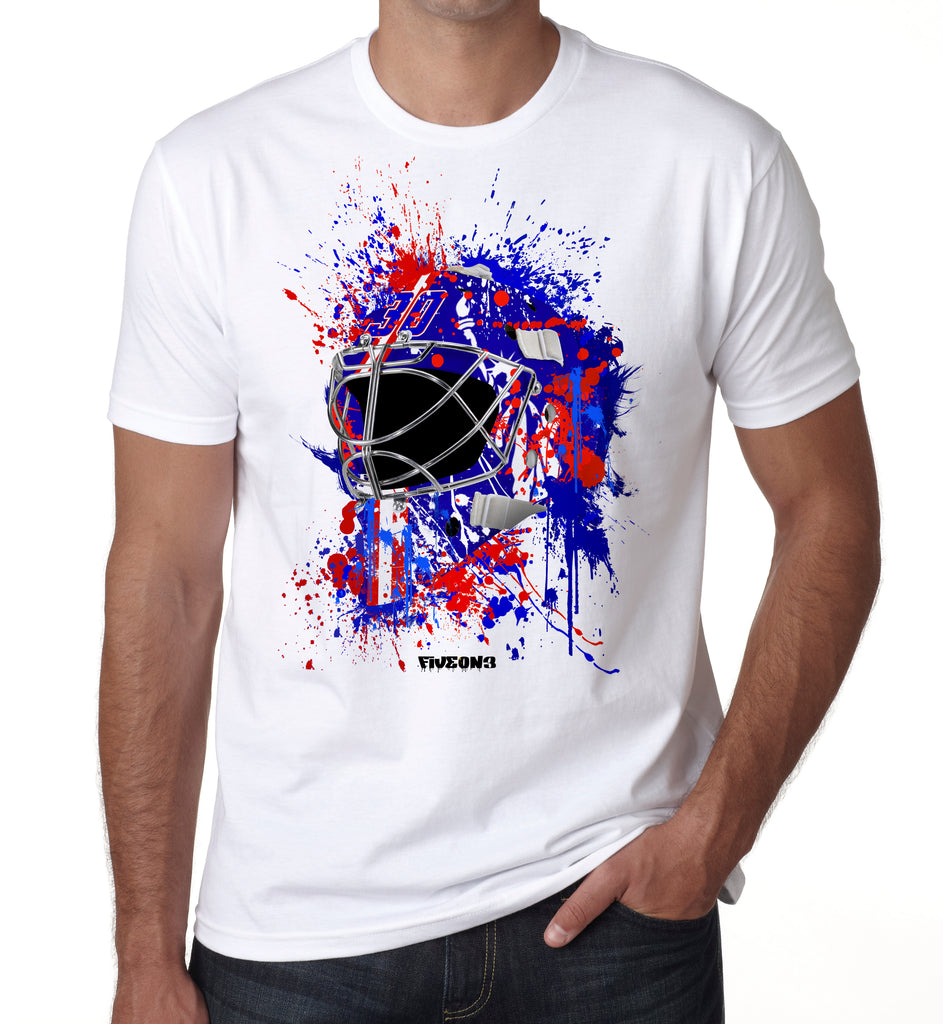 NY1 Splat Attack Goalie Mask T Shirt