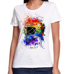 Pride Splat Attack Lady Fit Goalie Mask Tee