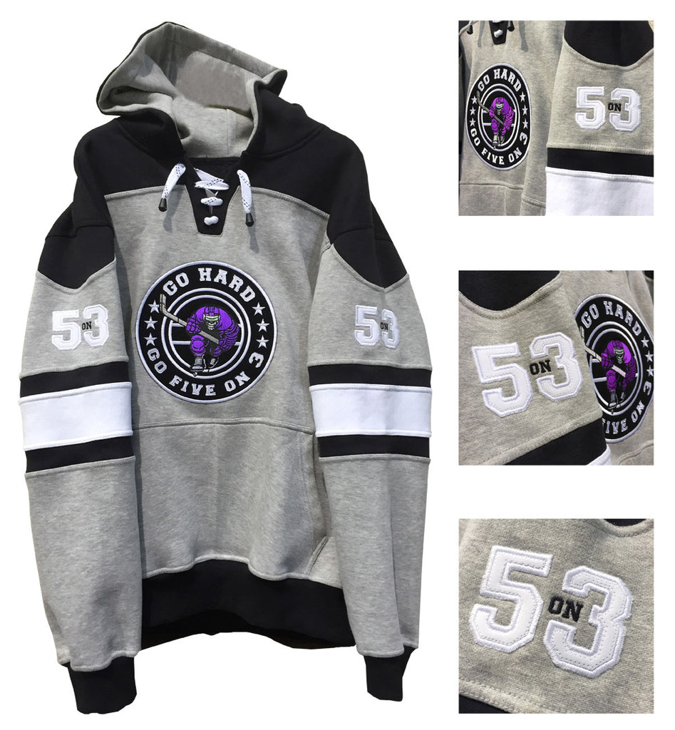 Purple Hockey Hoody