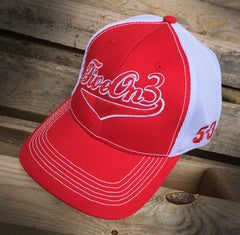 Five On 3 Trucker Mesh Cap in Red or Blue