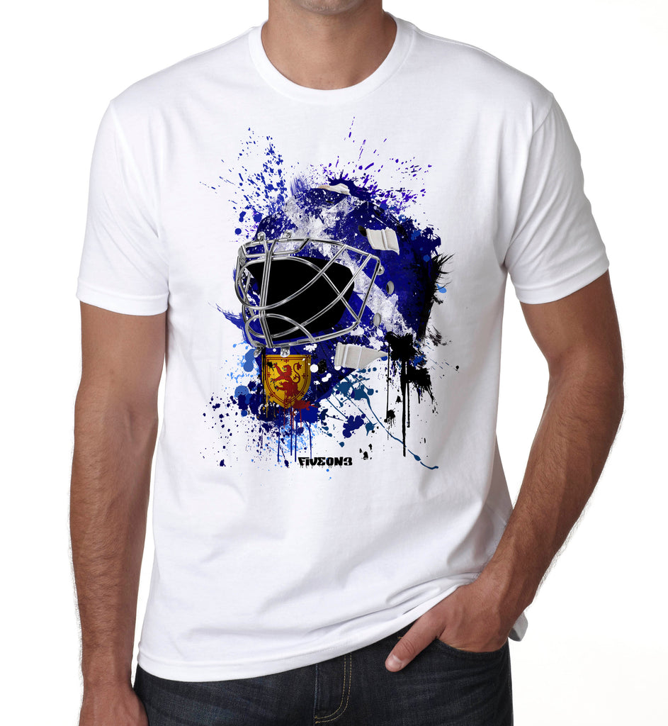 Scotland Splat Attack Goalie Mask T Shirt