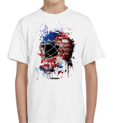 USA Splat Attack Goalie Mask Kids Tee