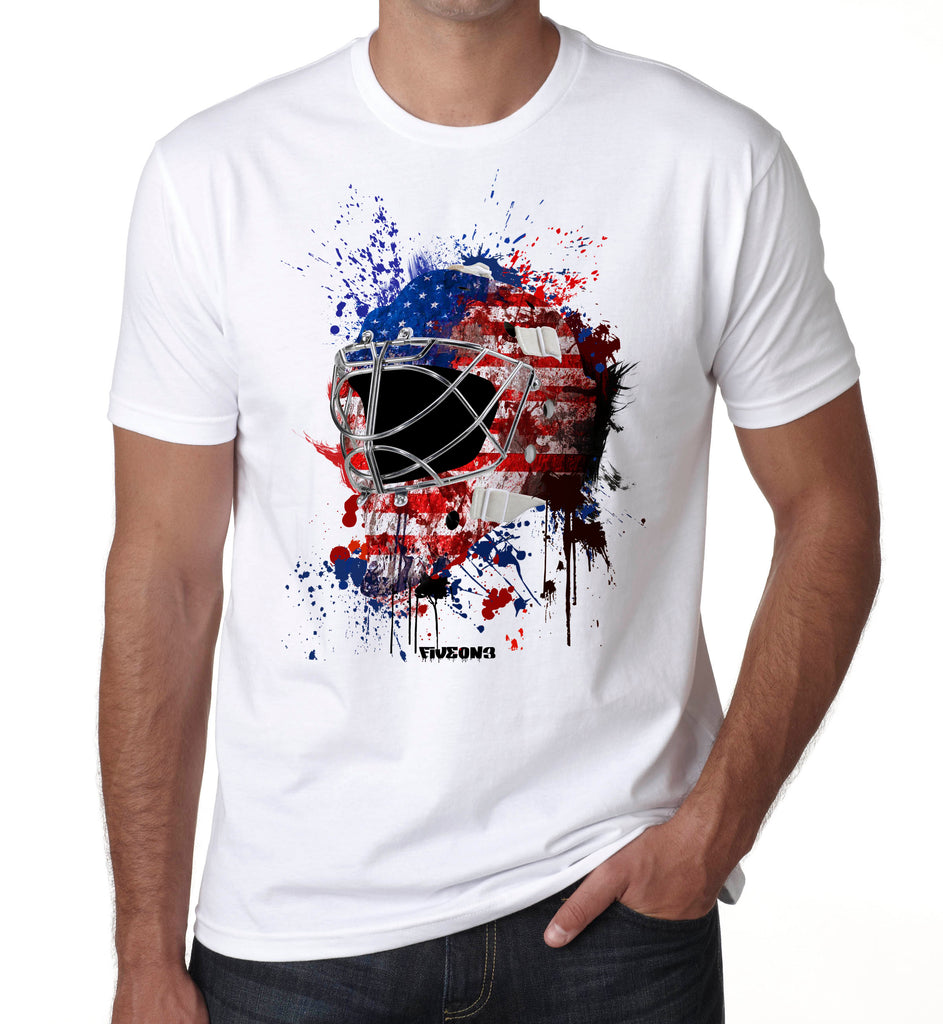 USA Splat Attack Goalie Mask T Shirt