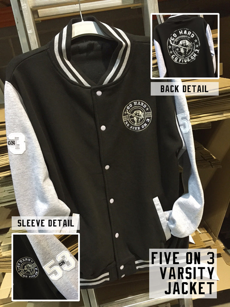 Five On 3 Varsity Jacket