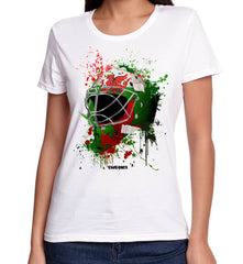 Wales Splat Attack Lady Fit Goalie Mask Tee