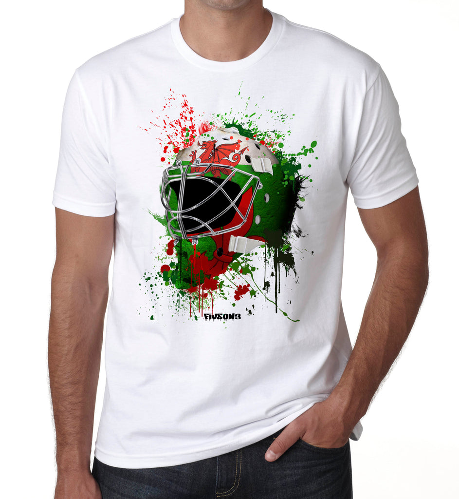 Wales Splat Attack Goalie Mask T Shirt