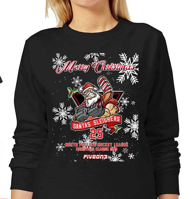 Santas Sleighers Adult Sweater 2019