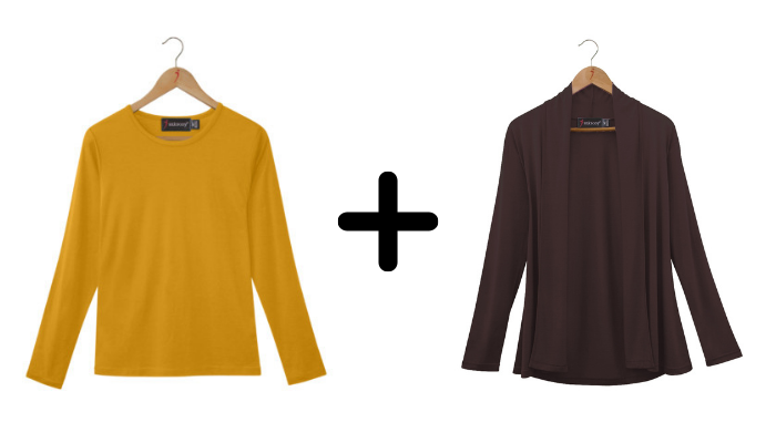 SilkLiving Saffron and Chocolate clothing