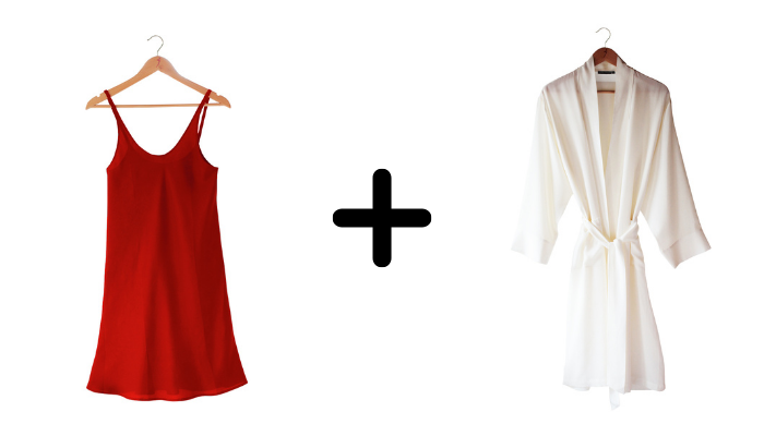 SilkLiving Sunset and Natural White Clothing