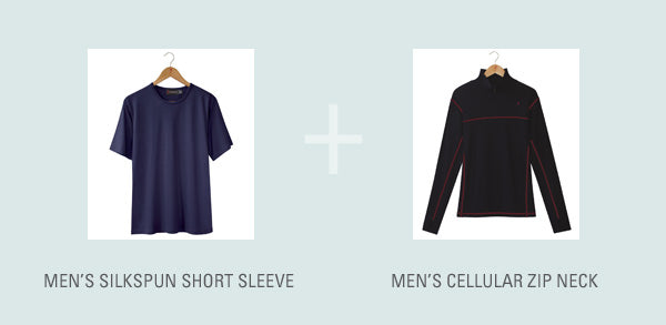 Try this men's Silkbody layering idea