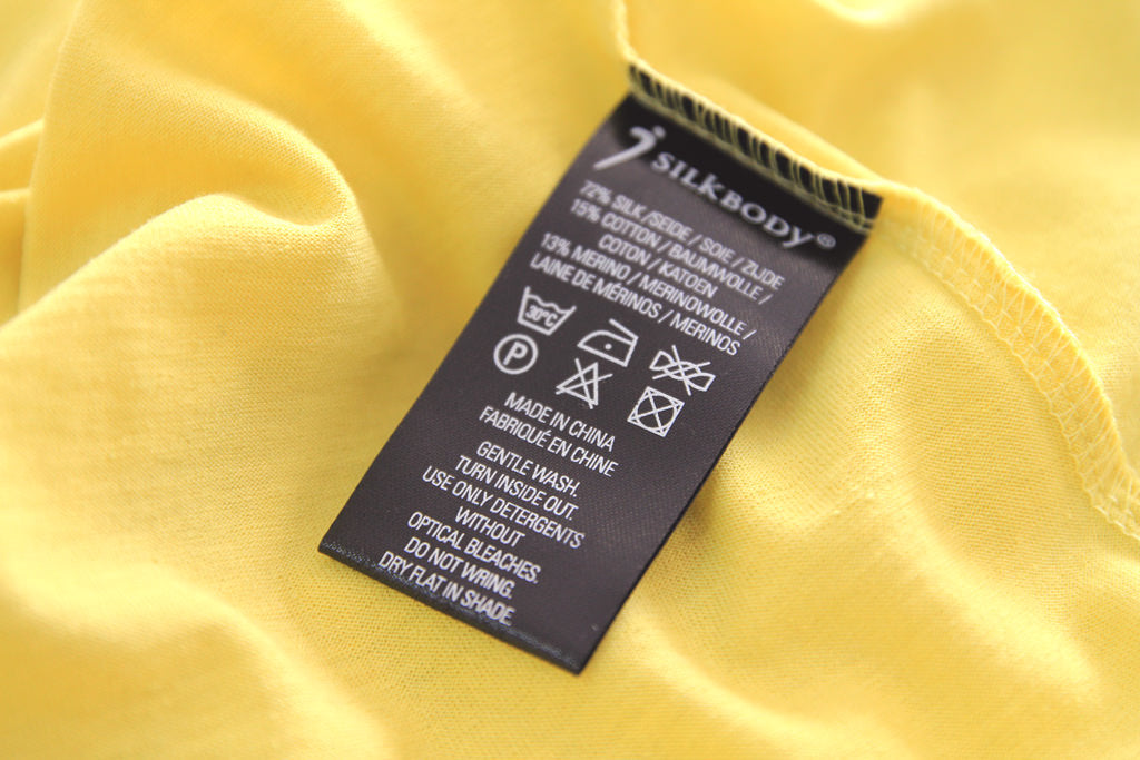 silkbody label washing instructions