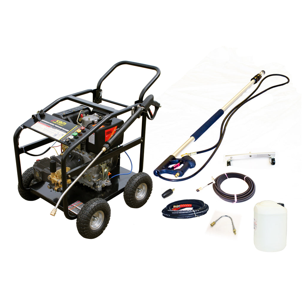 Patio, Drains, Gutter Cleaning Pressure Washer Package KM3600DXR