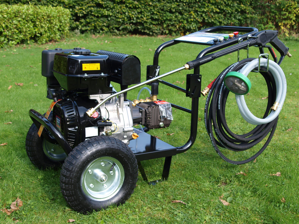 Driveway Cleaning Equipment - KM3700P Petrol Pressure Washer, SurfacePro 18 Rotary Cleaner and Turbo Nozzle