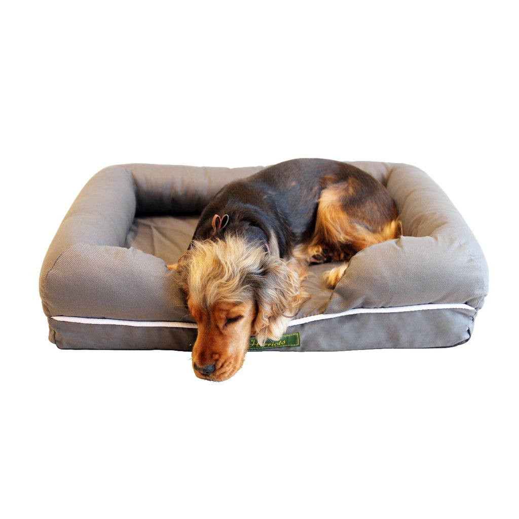 Buckingham Orthopaedic Memory Foam Waterproof Dog Bed (Grey Small)