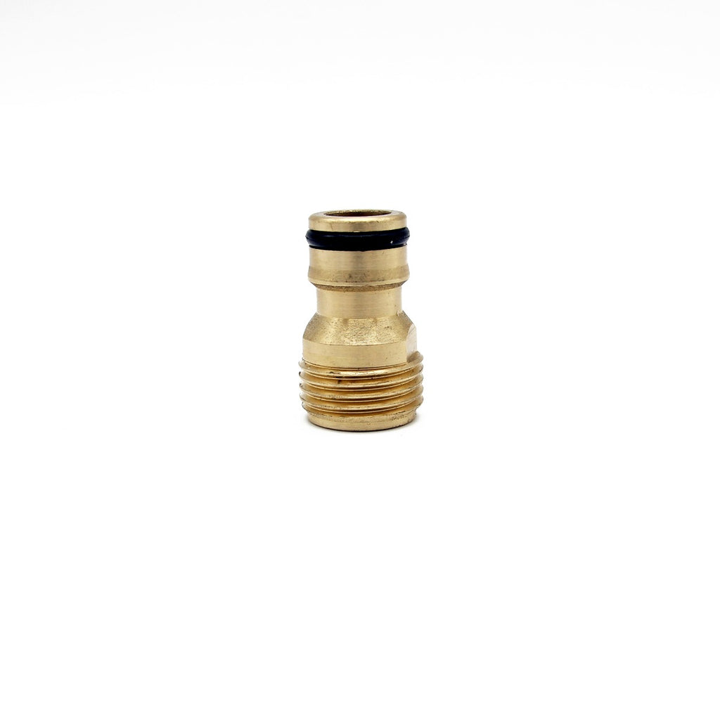 "Hozelock Male Quick Release to 1/2"" Male Screw Coupling - Brass"