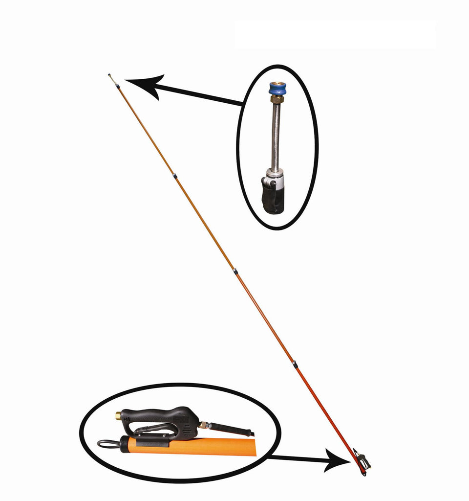 9.4m Telescopic Extendable Lance Pole for Pressure Washer