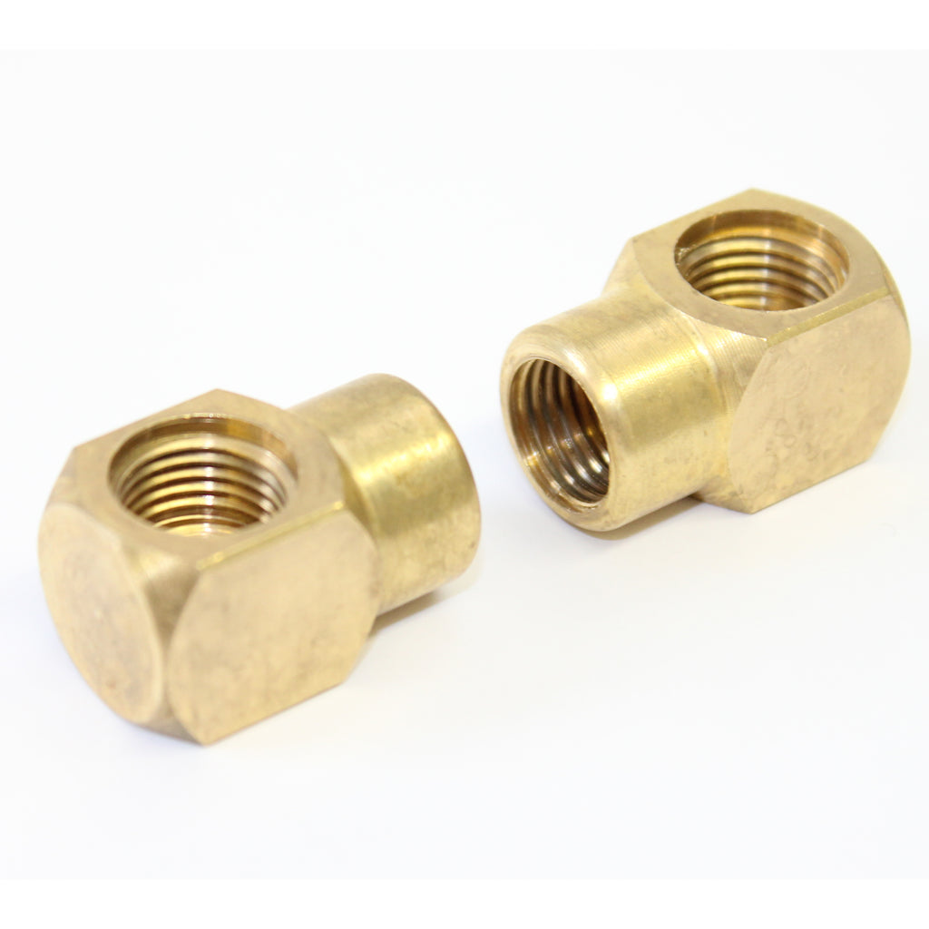 Brass Elbow Nozzle Holder for Kiam VT62 Rotary Cleaners (Pair)