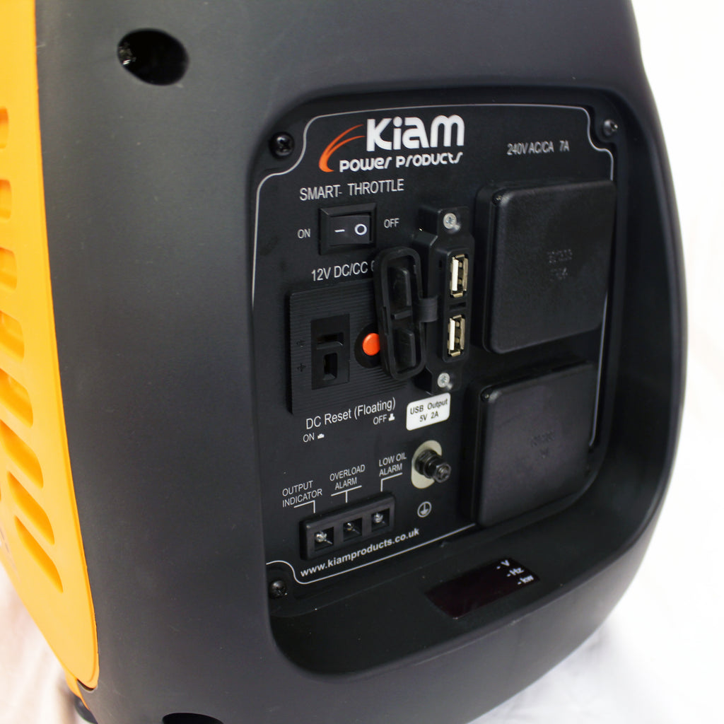KM2000i Inverter Generator 240V, 12V and USB sockets