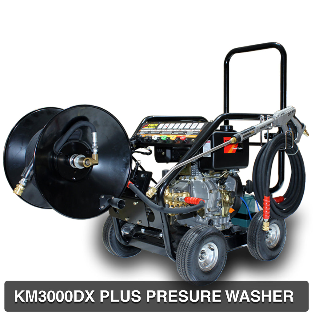 Driveway Cleaning Equipment - KM3600DX PLUS Diesel Pressure Washer, VT62-420S rotary surface cleaner and Turbo Nozzle