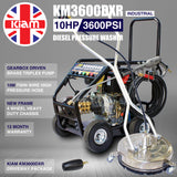 Driveway Cleaning Equipment - KM3600DXR Diesel Pressure Washer, SurfacePro 18 Rotary Cleaner and Turbo Nozzle
