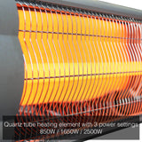 2.5KW Free Standing Infrared Heater KMH-2500R with Telescopic Floor Stand