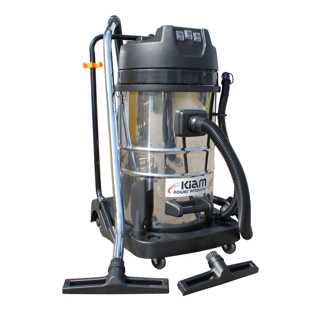 Kiam KV80-3 3600W Triple Motor Industrial Wet and Dry Vacuum Cleaner (Car wash / Gutter Cleaning)