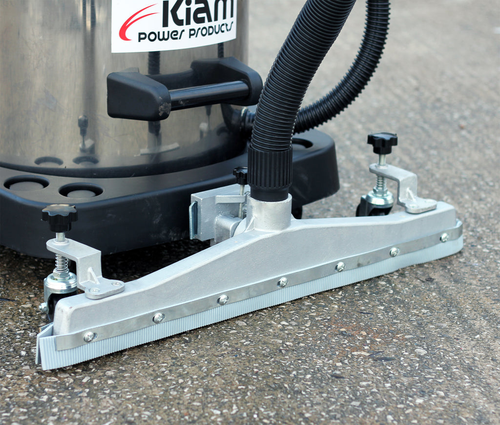 Kiam Warehouse Workshop Vac KV100-3F 3600W Wet & Dry with Front Mounted Squeegee