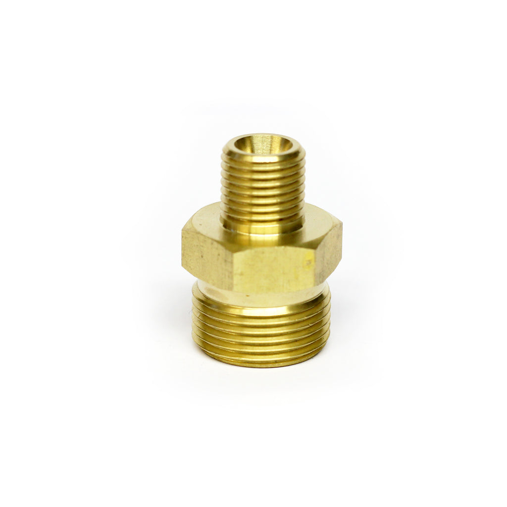"M22 Male Screw to 1/4"" Male Screw Thread Coupling"