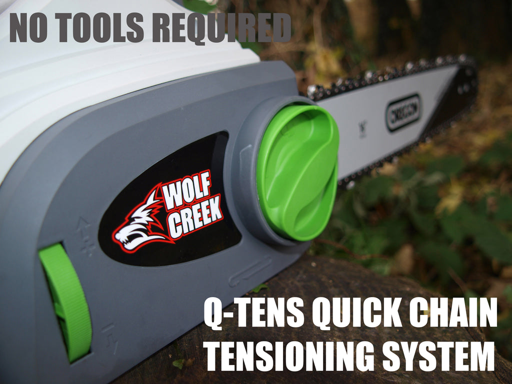 Wolf Creek CS20 Electric Chainsaw with Q-TENS chain tensioning system