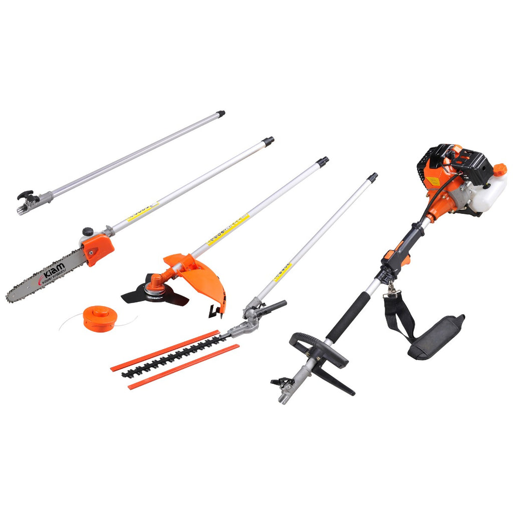 Kiam Sherwood 58 5in1 Hedge Trimmer Brush Cutter Strimmer Pruner Chainsaw