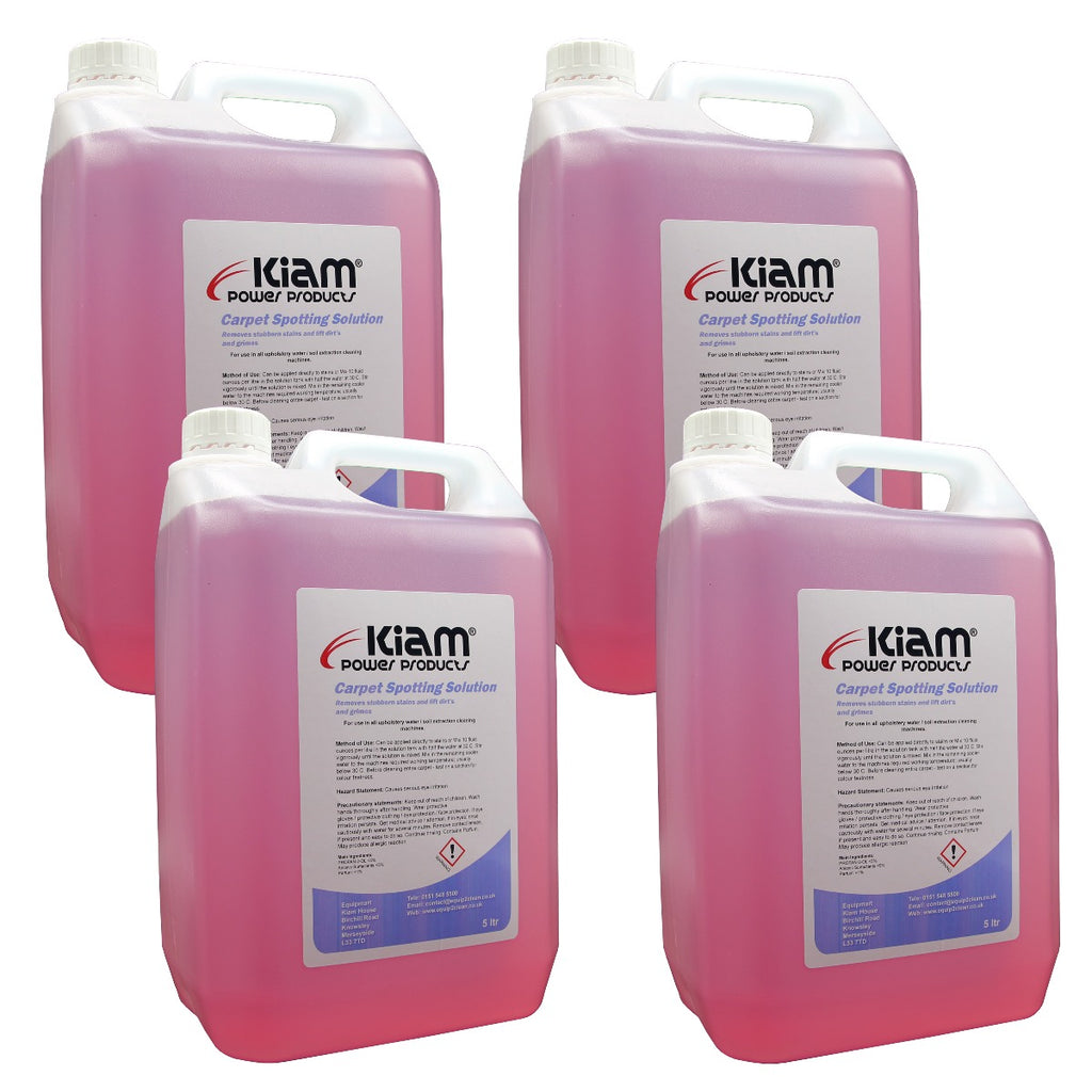 20 Litre (4x5L) Carpet and Upholstery Cleaning Spotting Solution