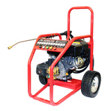 Driveway Cleaning Equipment - Warrior 3400P Petrol Pressure Washer, SurfacePro 18 Rotary Surface Cleaner and Turbo Nozzle