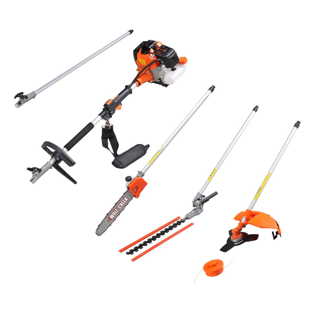 Wolf Creek Multi-Tool 58 - 5 in1 Strimmer Hedge Trimmer Pruner (58cc) 2 stroke engine