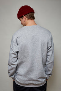 "Sweater ""Logo"" grau"