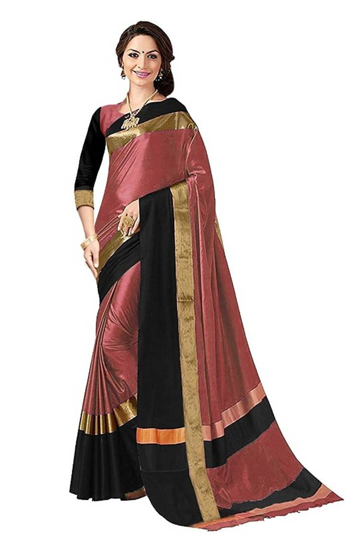 Beautiful Cotton Silk Saree with Blouse piece