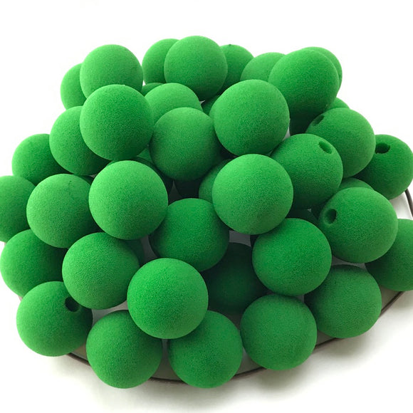 Bright Green Premium Foam Clown Nose 1.5