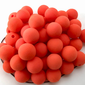 "Orange Premium Foam Clown Nose 1.5"" JCN3015-ORANGE. Sold in bags of 50. CLICK FOR DISCOUNT PRICING: from $.74 to $.58 per nose."