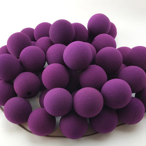 "Purple Premium Foam Clown Nose 2"" JCN3002-PRPL. Sold in bags of 50. CLICK FOR DISCOUNT PRICING: from $.77 to $.60 per nose."