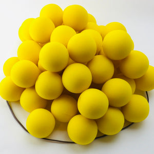 "Yellow Premium Foam Clown Nose 2"" JCN3002-YELLOW. Sold in bags of 50. CLICK FOR DISCOUNT PRICING: from $.77 to $.60 per nose."