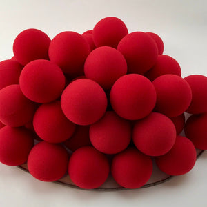"Red Premium Foam Clown Nose 2"" JCN3002-RED. Sold in bags of 50. CLICK FOR DISCOUNT PRICING: from $.75 to $.59 per nose."